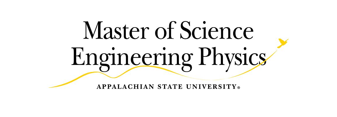 Master of Science Engineering Physics Appalachian State University