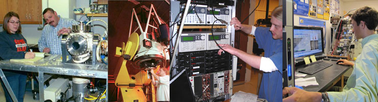collage of physics laboratories and instrumentation