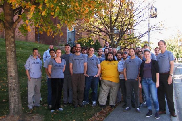 Physics graduate students group photo