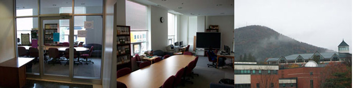 View of and view from the Lindsay Resource Room