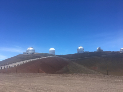 View of adjacent telescopes atop Mauna Kea