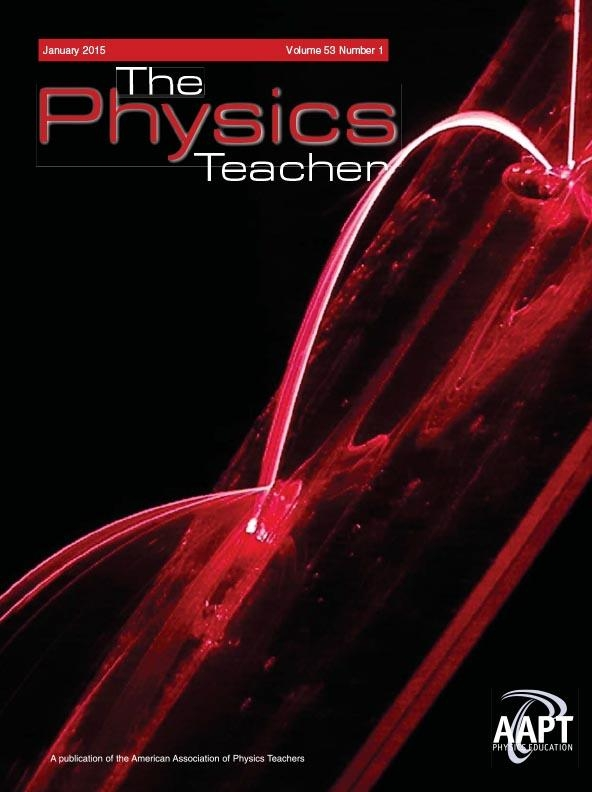 The Cover of the Jan 2015 Physics Teacher - a Laser Soap Fountain