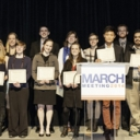 Students accepting awards at the March 2014 Meeting of the American Physical Society