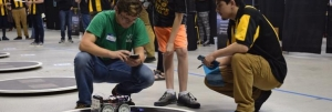 Students participating in SumoBot 2018